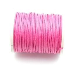Waxkoord, roze, 1 mm (10 meter)