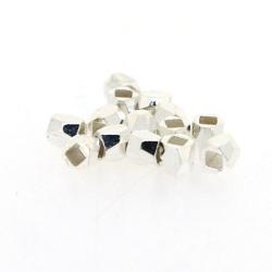 DQ Metalen kraal, zilver, 3 mm (100 st.)