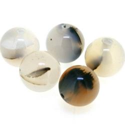 Agaat kraal rond 10 mm (5 st.)
