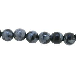 Snowflake Obsidian kraal rond 4 mm (20 st.)