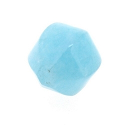 Blue Sponge Quartz, kraal, rond, 6 vlakken, 14 mm (5 st.)