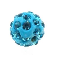 Shamballa kraal rond turquoise 10 mm (10 st.)