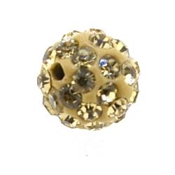 Shamballa kraal rond goud 10 mm (10 st.)