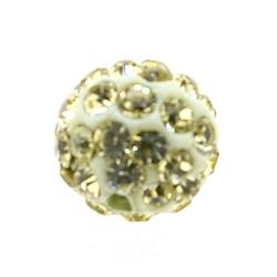 Shamballa kraal rond geel 10 mm (10 st.)
