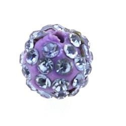 Shamballa kraal rond lila 10 mm (10 st.)