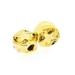 DQ Metalen kraal, goud, rond, ster, 7 x 5 mm (10 st.)