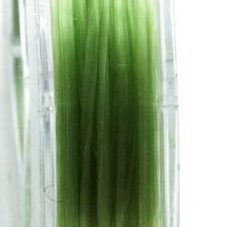 Elastiek rijgdraad 0.8mm plat groen (10 mtr.)