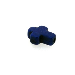 Gekleurd Turquoise kraal, kruis, blauw, 16 x 12 mm (5 st.)
