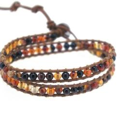 Chan Luu Style Armband, Agaat (1 st.)