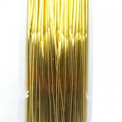 Wire Wire goud 0.4mm (10 mtr.)