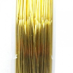 Wire Wire goud 0.5mm (10 mtr.)