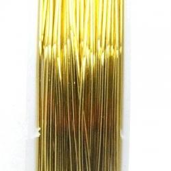 Wire Wire goud 0.5mm (10 mtr.)