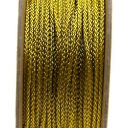 Shamballa draad, goud, 2 mm (ca. 12 mtr.)