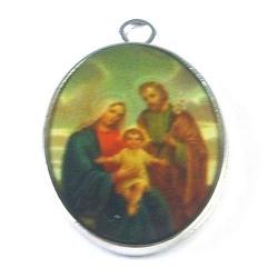 Bedel, religieus, ovaal, zilver, beide zijden een afbeelding, 29 x 19 mm (3 st.)