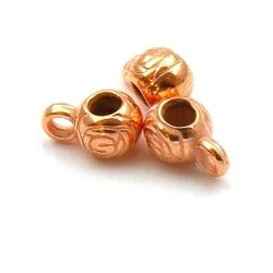 Metallook, tussenkraal met oogje, roségoud, 6 x 12 mm (20 st.)
