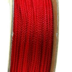Shamballa draad, rood, 2 mm (ca. 12 mtr.)
