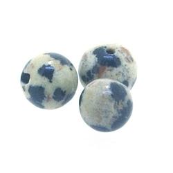 Dalmatier Jaspis kraal rond 6 mm (10 st.)