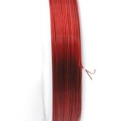 Staaldraad rood 0.38mm (100 meter)