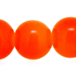 Glas, kraal, rond, oranje, 8 mm (10 st.)