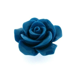 Hanger, roosje, blauw, 36 mm (1 st.)