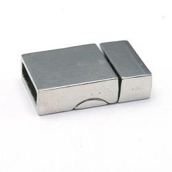 Magneetslot, DQ, zilver, 24 x 15 mm, binnenmaat 12 x 3 mm (2 st.)