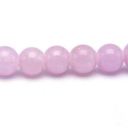 Gekleurd steen kraal, rond, lila, 6 mm (streng)