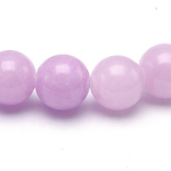 Gekleurd steen kraal, rond, lila, 8 mm (streng)