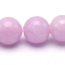 Gekleurd steen kraal, rond, lila, 10 mm (streng)