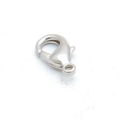 Karabijnslot, antique zilver, 14 mm (5 st.)
