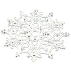 Ornament, filligrain, zilver, 47 mm (2 st.)