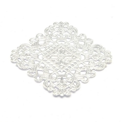 Ornament, filligrain, zilver, 40 mm (2 st.)