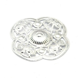 Ornament, filligrain, zilver, 20 mm (2 st.)