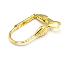 Oorbelhaakje, goud, 18 mm (10 st.)