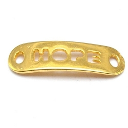 DQ tussenstuk goud quote HOPE 25 x 8 mm (2 st.)