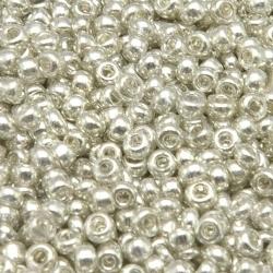 Rocailles, zilver, ca. 1,5 mm (50 gr.)