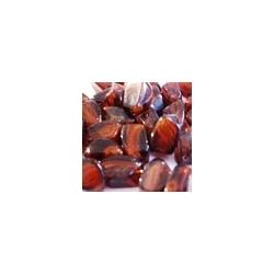 Glaskraal, gemarmerd, bruin, 10 x 15 mm (10 st.)