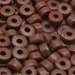 Rocailles, bruin, ca. 2 x 4 mm (50 gr.)