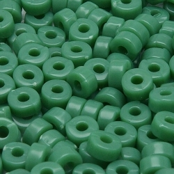 Rocailles, legergroen, ca. 2 x 4 mm (50 gr.)