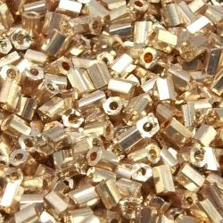 Rocailles, goud, ca. 2,5 x 2 mm (50 gr.)