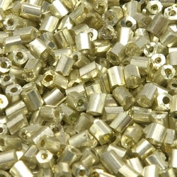 Rocailles, goud, ca. 2 x 1 mm (50 gr.)
