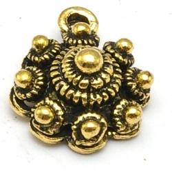 DQ hanger goud Zeeuwse knop 16 x 12 mm (1 st.)
