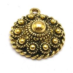 DQ hanger goud Zeeuwse knop 27 x 23 mm (1 st.)