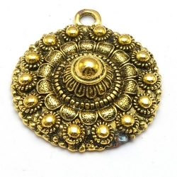 DQ hanger goud Zeeuwse knop 38 x 34 mm (1 st.)