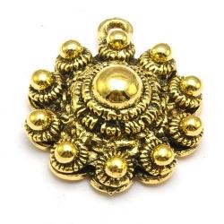DQ hanger goud Zeeuwse knop 28 x 24 mm (1 st.)
