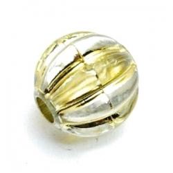 Metallook kraal, rond, goud, 14 mm (5 st.)