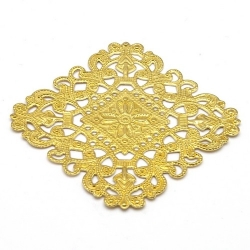 Ornament, filligrain, goud, 40 x 40 mm (2 st.)