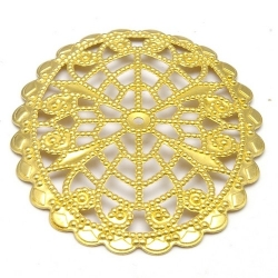 Ornament, filligrain, goud, 45 x 36 mm (2 st.)