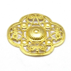 Ornament, filligrain, goud, 20 mm (2 st.)