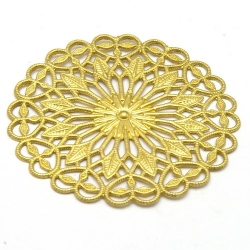 Ornament, filligrain, goud, 38 mm (2 st.)