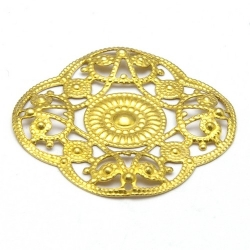 Ornament, filligrain, goud, 28 mm (2 st.)